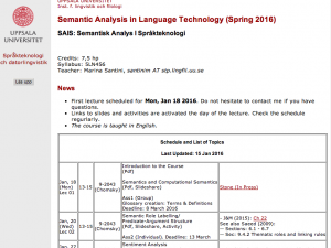 Semantic Analysis in Language Technology