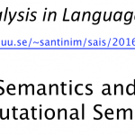 Semantics and Computational Semantics