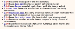 bass: wordnet